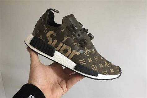 Adidas Nmd Lv X Supreme supreme x adidas nmd x louis vuitton custom sneaker collaboration city of hype