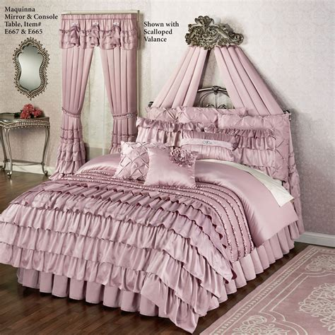 mauve comforter sets enchante dusty mauve ruffled comforter bedding