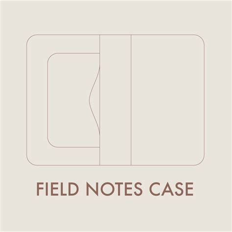 leather field notes case digital template 8 5 x 11