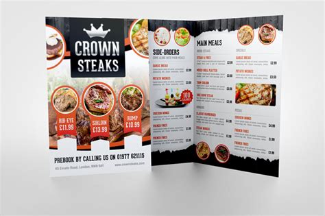 half fold menu mock up graphicriver