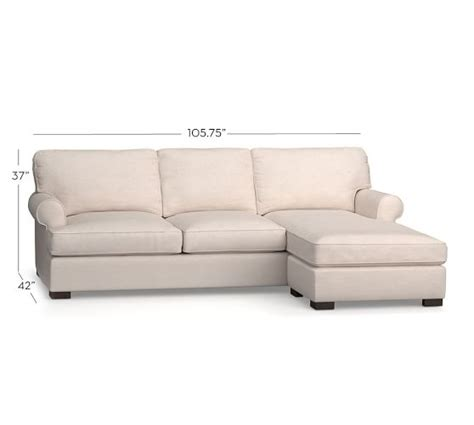 Roll Arm Sectional Sofa by Townsend Upholstered Roll Arm Sofa With Reversible Storage Chaise Sectional Pottery Barn