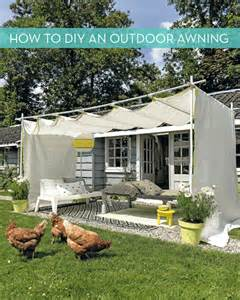 Homemade Awning For Patio Make It Diy Outdoor Awning 187 Curbly Diy Design Amp Decor