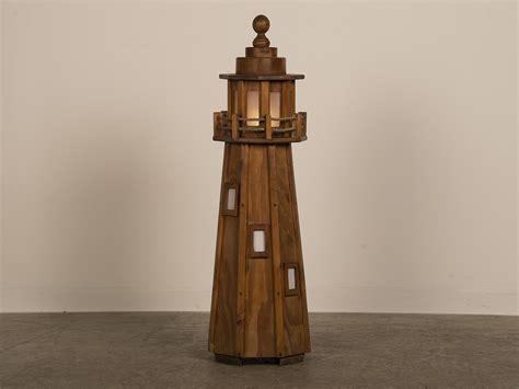 Handmade Lighthouse - vintage handmade wood lighthouse floor l circa
