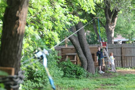 zip line backyard backyard zip line for kids 171 the trailhead
