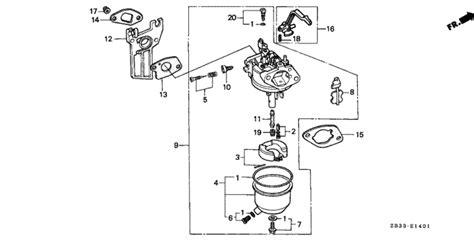 carburetor   honda ebx general sales region