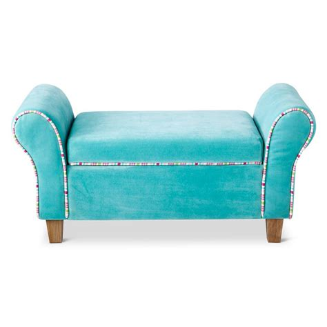 turquoise storage bench turquoise kids upholstered storage bench everything