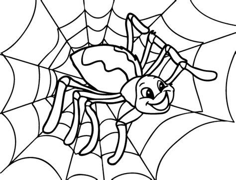 halloween coloring pages spider web happy spider coloring page cute spider pinterest spider