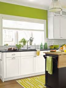 Green Kitchen Walls by A Busted Open Brightened Up Kitchen Subway Tile