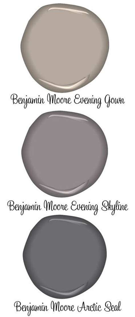 paint benjamin evening gown greige evening skyline arctic seal grays guest