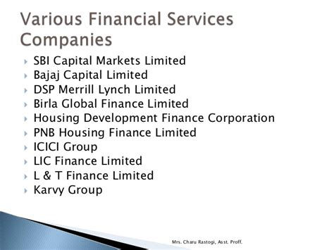 Bajaj Capital College Mba by Introduction To Financial Services