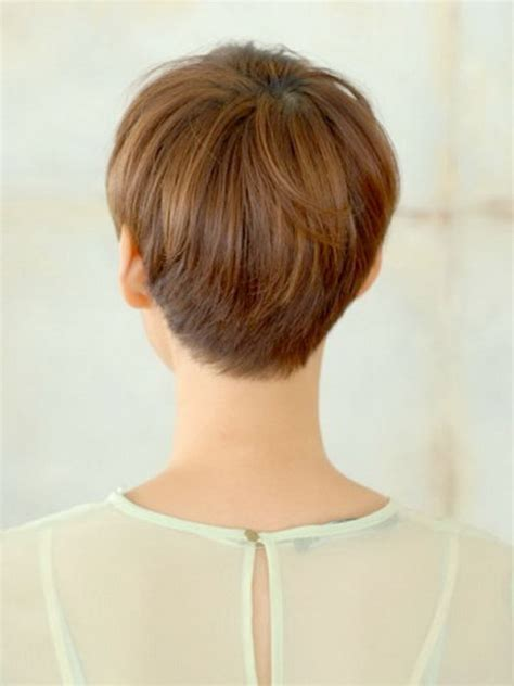short pixie hair style with wedge in back short wedge haircut short wedge haircuts back view