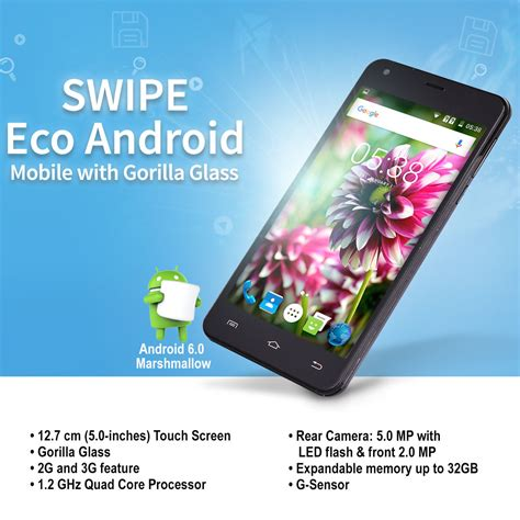 mobile phones with gorilla glass buy swipe eco android mobile with gorilla glass at