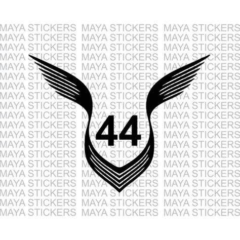 Sticker Wall Decals lewis hamilton 44 number logo stickers