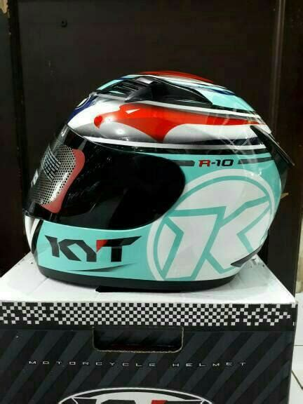 Helm Kyt R10 Aqua Blue Jual Helm Fullface Kyt R 10 Aqua Di Lapak Gudang Helm Gudanghelm567