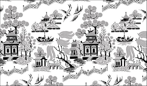 black and white willow pattern chinese style willow pattern stencils stensils and