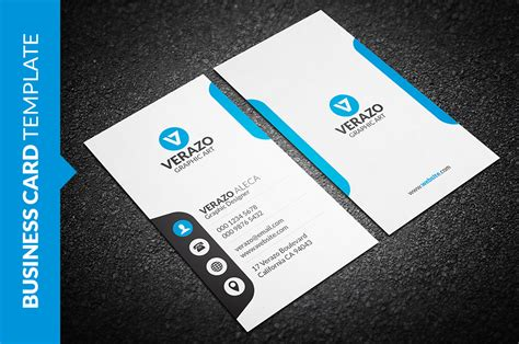 Pages Vertical Business Card Template by Clean Vertical Business Card Business Card Templates On