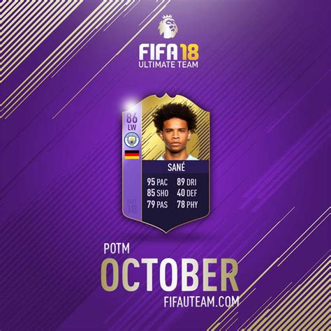 epl potm october 2017 fifa 18 premier league player of the month all fifa 18