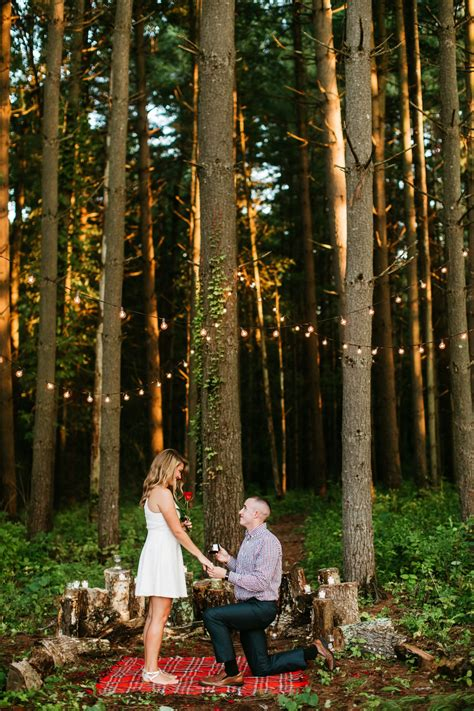 proposal wooded proposal forest proposal bistro light