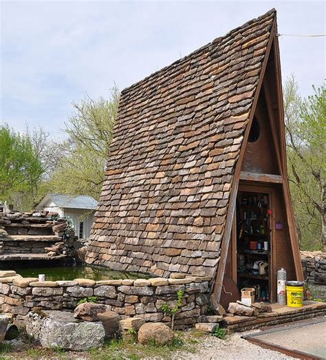 a frame roof steep roof a frame cabin with tiled roof shelter pinterest