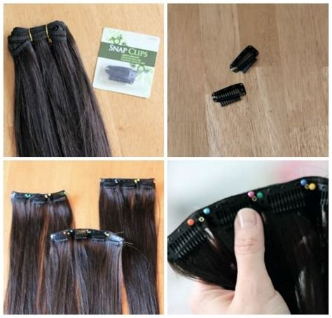make clip in hair extensions 17 best images about how to make clip hair extensions on
