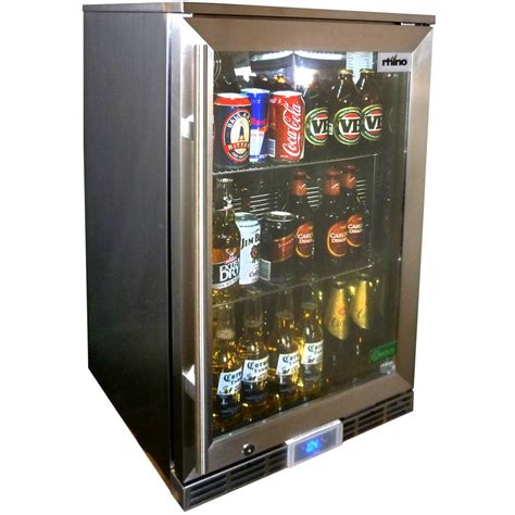 Outdoor Fridge Glass Door Rhino All Stainless Alfresco Energy Efficient Outdoor Glass Door Bar Fridge