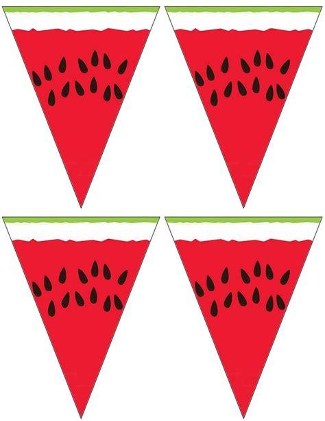 Printable Watermelon Banner   small printable watermelon banner say it with banners