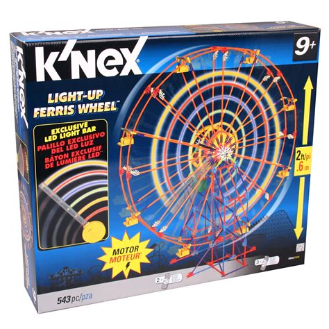 k nex light up ferris wheel knex 50042 light up ferris wheel riesenrad 60cm bausatz