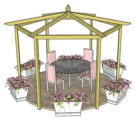 pitched roof pergola pitched roof hexagonal pergola