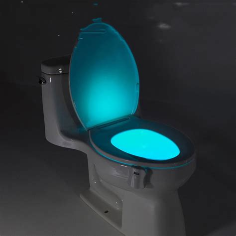 led light toilet seat led toilet bathroom light human motion activated