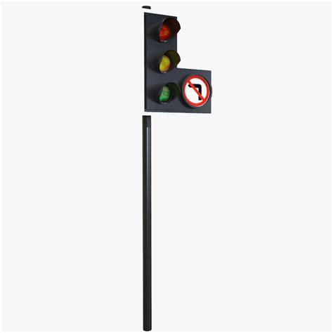 light right turn traffic light right turn 3d model