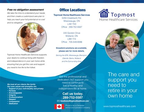 healthcare brochure our client topmost home healthcare services asked us to