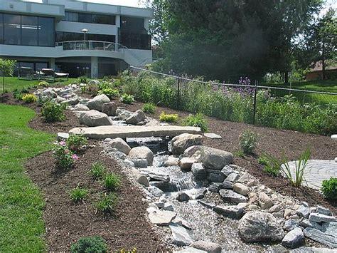 backyard stream construction residential streams in michigan