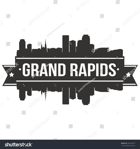 Grand Rapids Skyline Outline by Grand Rapids Skyline St Silhouette City Stock Vector 565694527