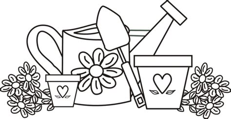 garden shovel coloring page simple garden coloring pages getcoloringpages com