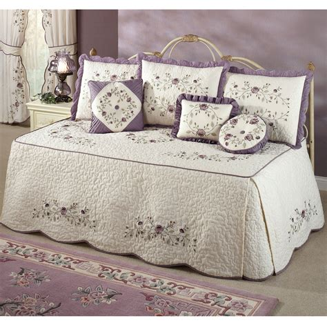 design studio home collection bedding daybed bedding set intrigue chenille flounce
