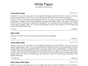 White Paper Template by White Paper Free Templates 9template