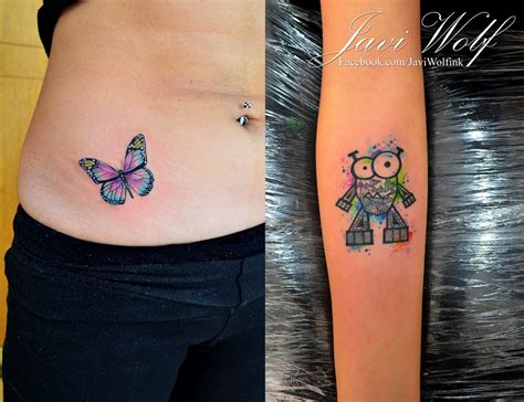 watercolor tattoo facebook mini watercolor tattoos tattooed by javiwolfink www