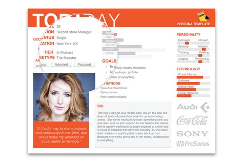 persona templates our user persona template on behance