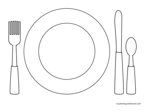 dinner plate coloring page