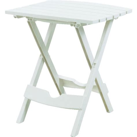 White Patio Table Quik Fold White Folding Patio Table