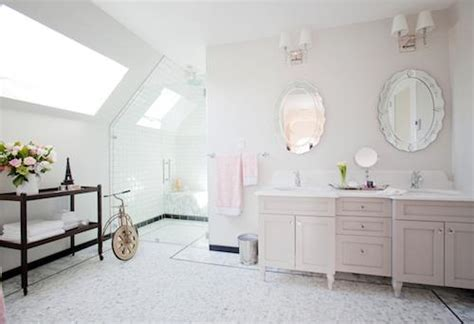 Light Gray Paint Colors   Transitional   bathroom   Behr