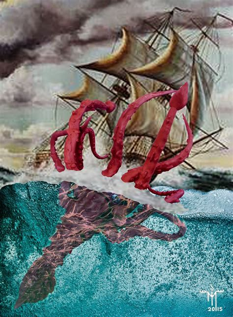 black ink kraken attacking ship new page books creature of the month cthulhu and the