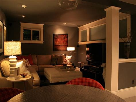 basement living room elegan basement decorating ideas colors home round