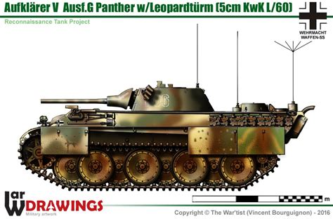 Heavy Light Aufkl 228 Rer V Ausf G Panther Mit Leopardt 252 Rm