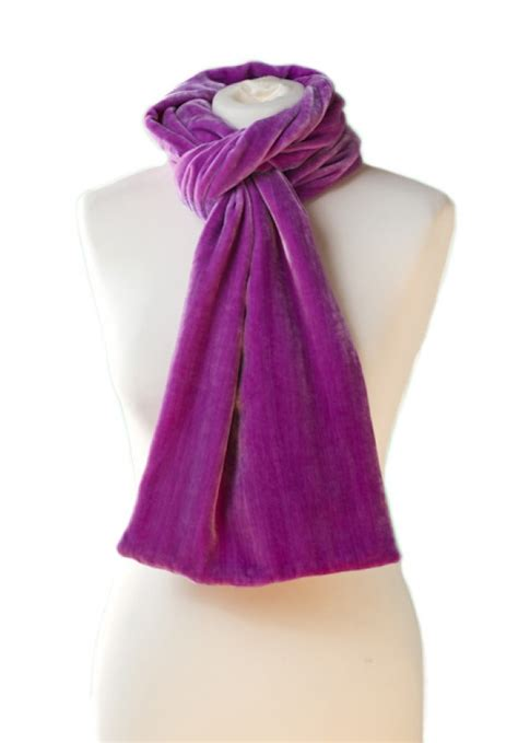 black accessories classic silk velvet scarf damson