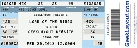 fake concert ticket generator wedding planning