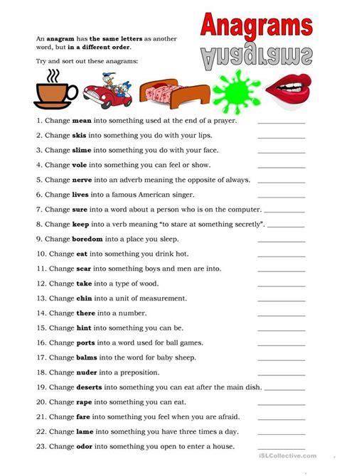printable christmas anagrams 14 free esl anagrams worksheets