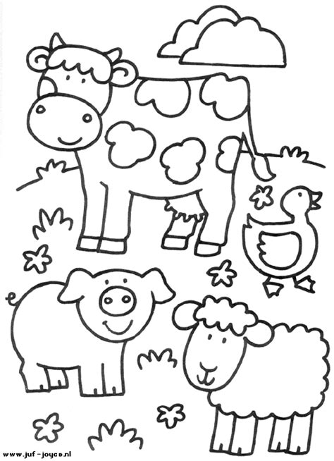 cute farm animals coloring pages kleurplaat de boerderij boerderij pinterest farming