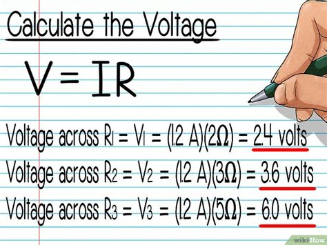 calculate voltage drop across resistors de spanning een weerstand berekenen wikihow