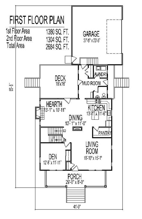 Country Farm Homes Open Floor Plan Farmhouse 2500 Sq Ft 4 Home Plans 2500 Square